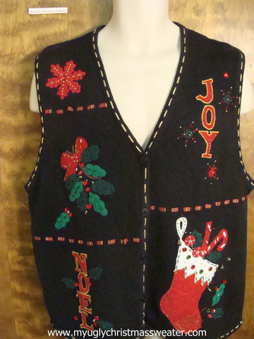 JOY and NOEL Christmas Party Sweater Vest