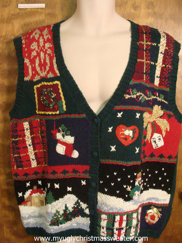 Snowy Night Christmas Party Sweater Vest