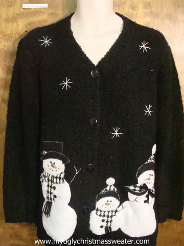 Tacky Black Christmas Party Sweater