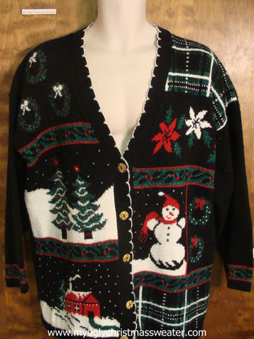 Snowy Christmas Eve Christmas Party Sweater