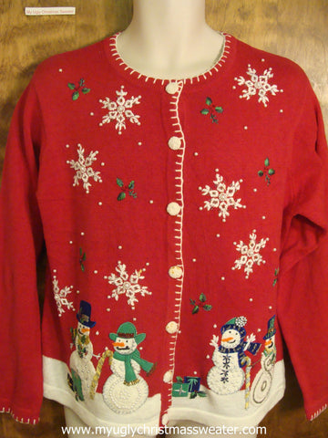 Merry Snowmen Cheap Christmas Party Sweater