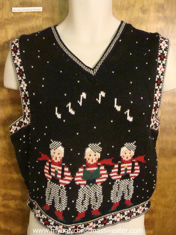 Festive Carolers Christmas Party Sweater Vest
