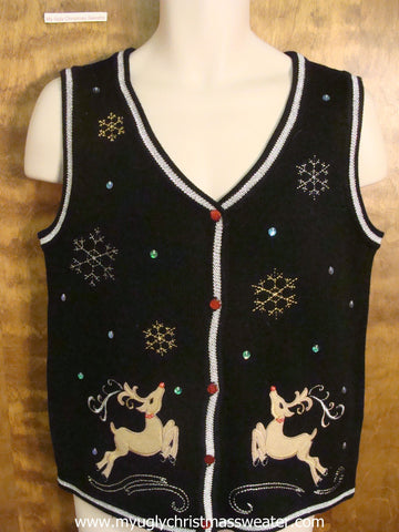 Christmas Reindeer Christmas Party Sweater Vest