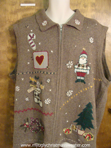 Big Ugly Christmas Sweater Vest 4XL