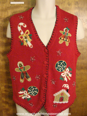 Holiday Sweets Ugly Christmas Sweater Vest