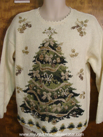 80s Festive Tree Ugly Christmas Sweater