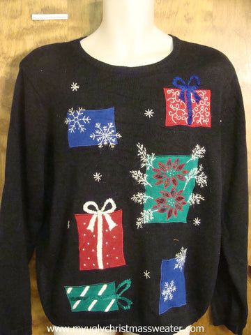 80s Presents Ugly Christmas Sweater