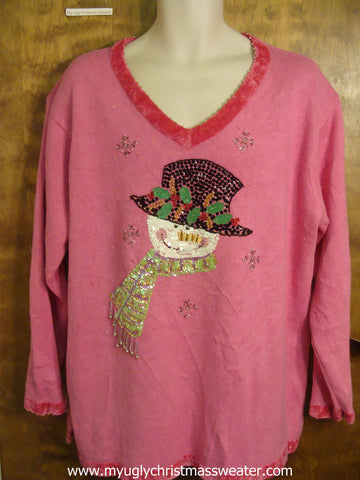 Snowman Ugly Christmas Sweater