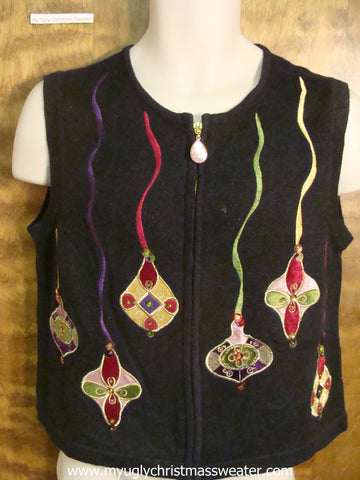 Ornaments Ugly Christmas Sweater Vest