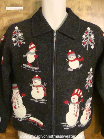 Playful Snowmen Ugly Christmas Sweater