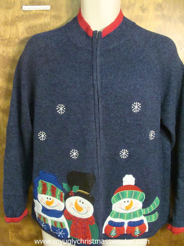 Snowmen Hanging Out Ugly Christmas Sweater