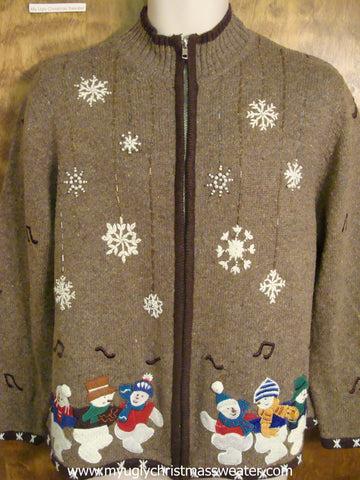 Snowmen Dancing Ugly Christmas Sweater