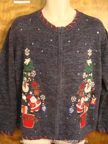 Jolly Snowmen, Santa, and More Ugly Christmas Sweater