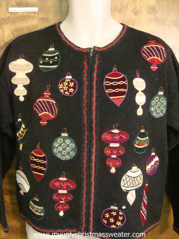 Festive Ornaments Ugly Christmas Sweater