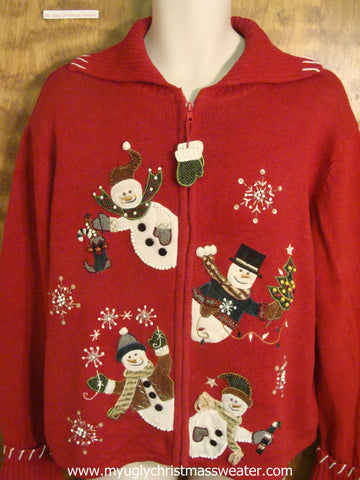 Christmas Snowmen Ugly Christmas Sweater