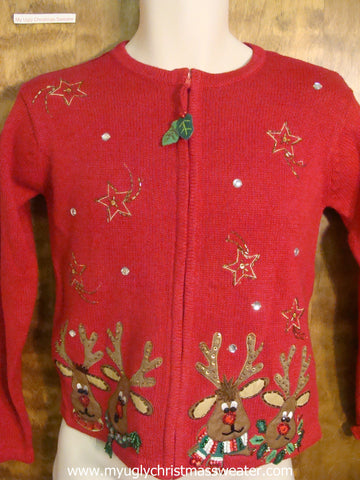 80s Reindeer Ugly Christmas Sweater