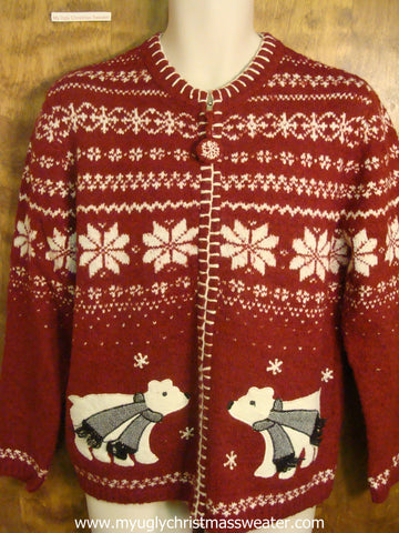 Nordic Pattern with Polar Bears Ugly Christmas Sweater