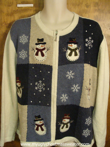 Snowmen and Snowflakes Ugly Christmas Sweater