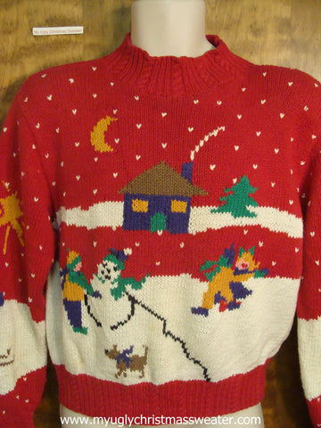 80s Christmas Village Ugly Christmas Sweater