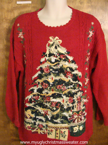 Gaudy Tree Ugly Christmas Sweater