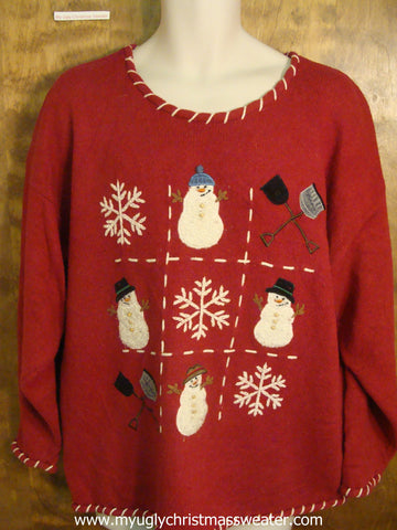 Tic Tac Toe Ugly Christmas Sweater