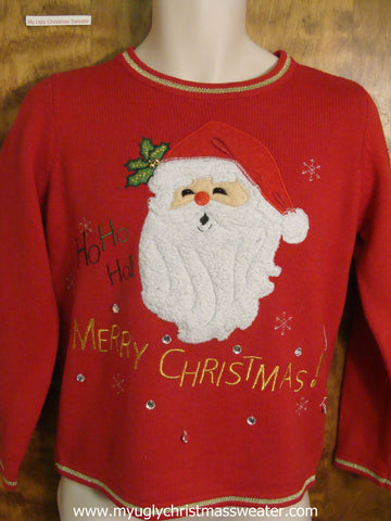 Ho Ho Ho Cheap Ugly Christmas Sweater