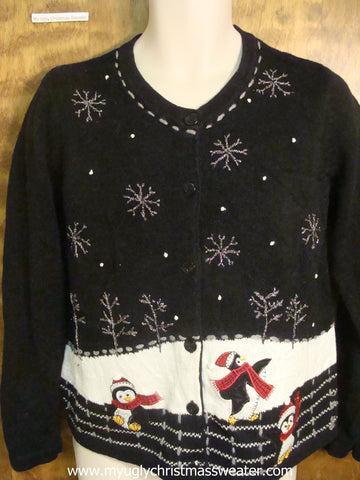 Dancing Penguins Ugly Christmas Sweater