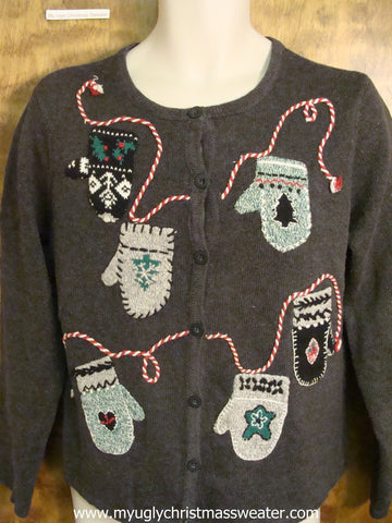 Christmas Mittens Ugly Christmas Sweater