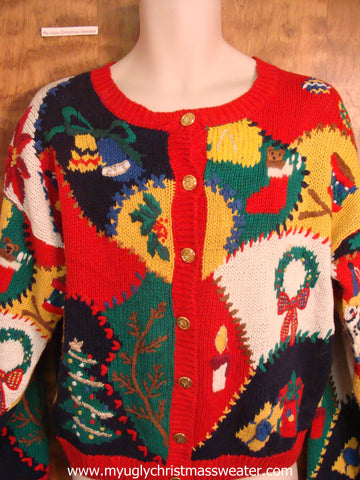 Holiday Theme Ugly Christmas Sweater