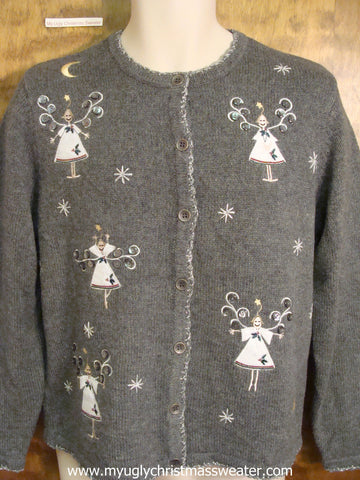 Ice Skaters Ugly Christmas Sweater