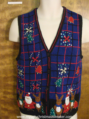 North Pole Party Ugly Christmas Sweater Vest