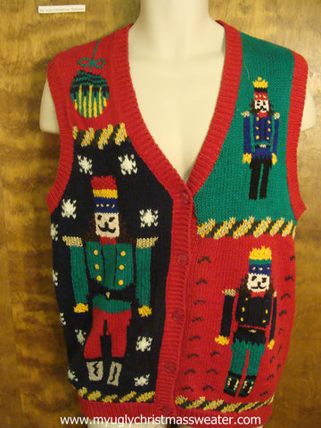 80s Nutcrackers Ugly Christmas Sweater Vest