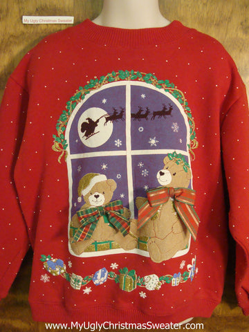 Teddy Bears on Christmas Eve Child Size Christmas Sweater