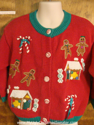 Gingerbread Cookies Child Size Christmas Sweater