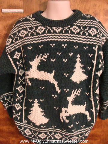 Reindeer Nordic Child Size Christmas Sweater