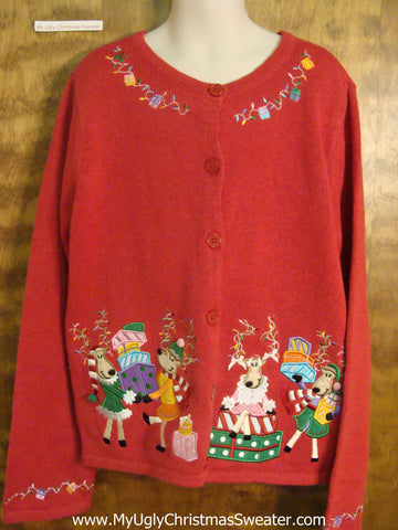 Reindeer Holiday Party Child Size Christmas Sweater