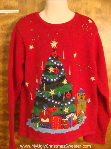 Bling Christmas Tree Child Size Christmas Sweater