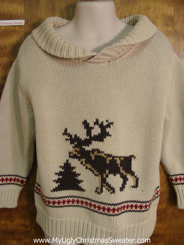 Reindeer  and Tree Child Size Christmas Sweater