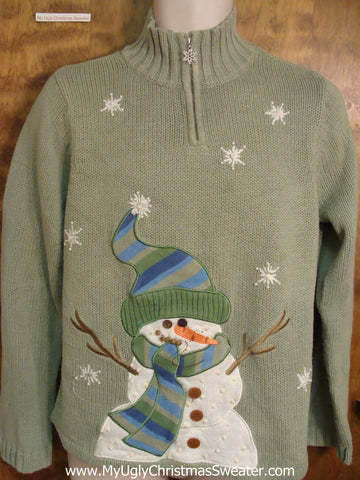 Big Happy Snowman Horrible Christmas Sweater