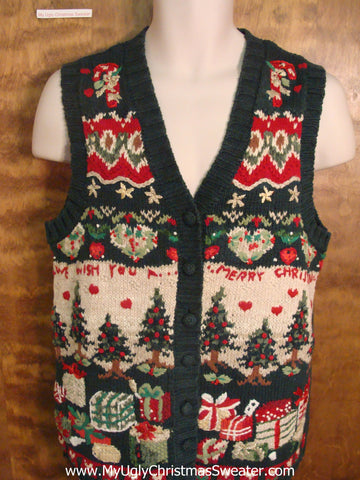 """Merry Christmas"" Horrible Christmas Sweater Vest"