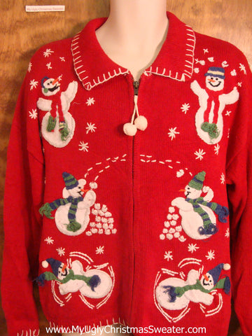 Fun in the Snow Horrible Christmas Sweater