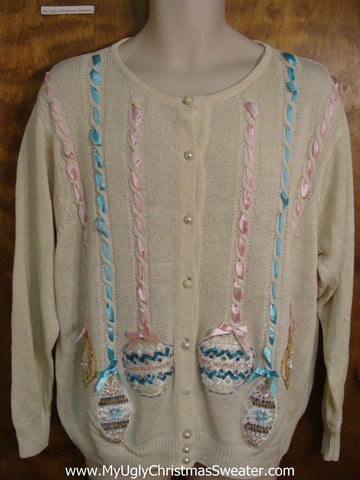 Pastel Ornaments Horrible Christmas Sweater