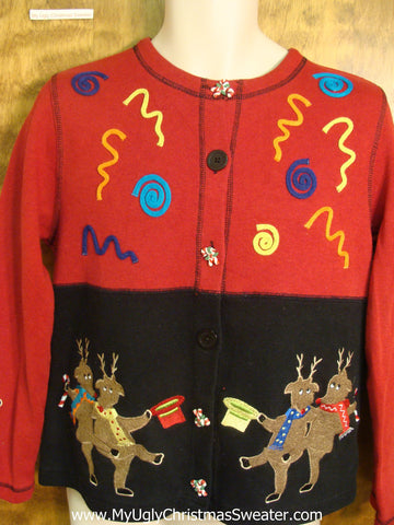 Tap Dance Reindeer Horrible Christmas Sweater