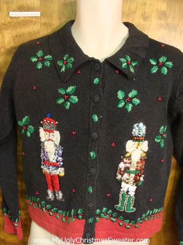 Festive Nutcrackers Tacky Xmas Party Sweater