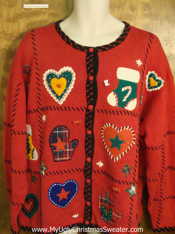 Holiday Love Tacky Xmas Party Sweater