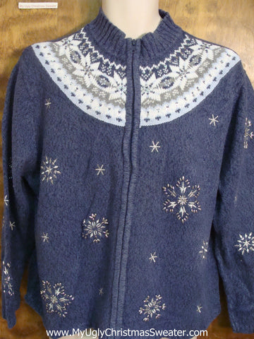 Snowflakes and Nordic Design Tacky Xmas Party Sweater