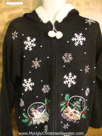Snow Globes Tacky Xmas Party Sweater Hoody