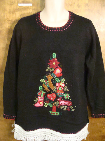 Holiday Favorites Tree Tacky Xmas Party Sweater