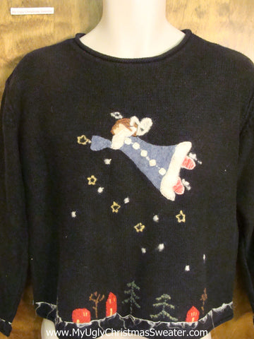 Angel Sprinkling Cheer Tacky Xmas Party Sweater