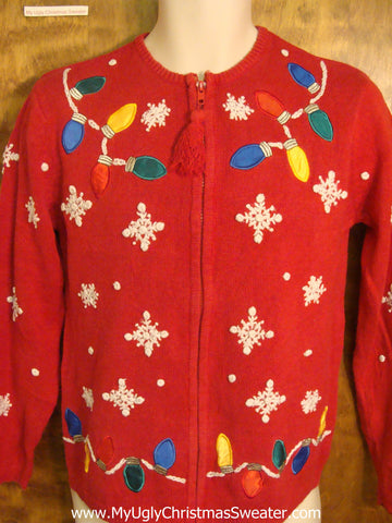 Christmas Lights Galore Tacky Xmas Party Sweater
